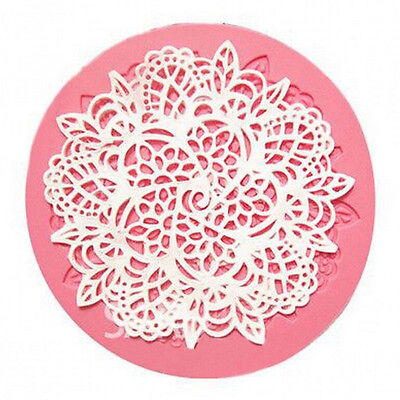Lace Silicone Mold Mould Sugar Craft Fondant Mat Cake Decorating Baking CC