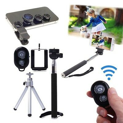 Extendable Bluetooth Handheld Monopod with Tripod Selfie Stick For Smart Phone