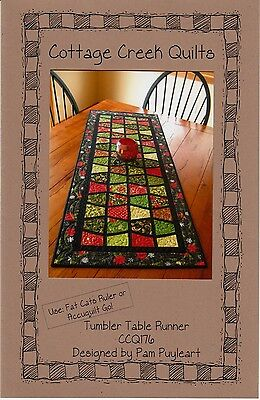 TUMBLER TABLE RUNNER QUILTING PATTERN, From Cottage Creek Quilts NEW