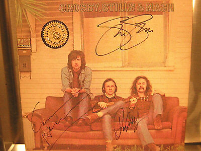 Crosby Stills Nash Signed Lp Self Titled Lp All 3 Members
