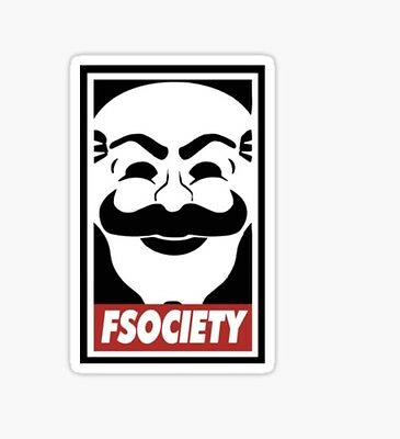 F SOciety Mr. Robot Sticker decal car laptop cute
