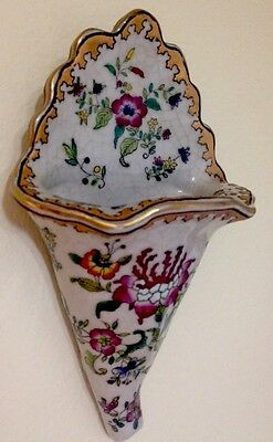 Estate Found Vtg Export Chinese Famille Rose Wall Mount Vase Fountain Porcelain