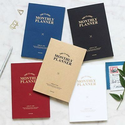 2017 THE CLASSIC MONTHLY PLANNER S Diary Dated Korean Sticker Journey schedule
