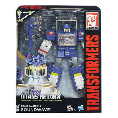 Transformers Generations Titans Return Leader Soundwave & Soundblaster NEW