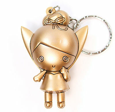 """Disney 3D Figural Keyring Series 3 GOLD TINKERBELL 3"""" KEYCHAIN Exclusive"""