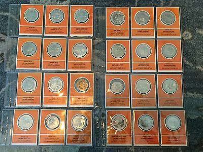 *****  1969 Franklin Mint Gaming Token First Edition Proof Set  24 Tokens  *****