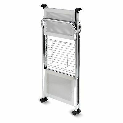 Honey-Can-Do CRT-01703 Chrome Folding Utility Table, Kitchen Cart