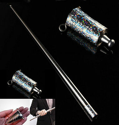 Appearing  Wand Close UP  Metal Silver  Magic Tricks  Cane  New Illusion