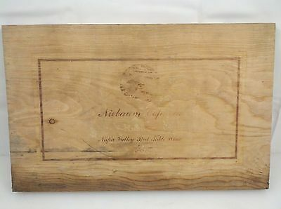 Niebaum Coppola - 1986 Napa Valley Red Table Wine Wooden Box Panel 14 Inch Long