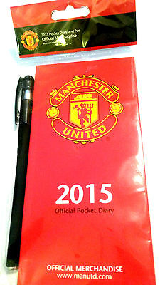 New Official Manchester United Football Club 2015 Pocket Diary Free Uk Delivery