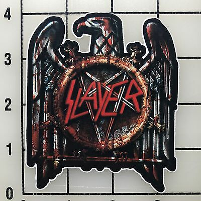 "Slayer 4/"" Wide Black /& White Vinyl Sticker BOGO"