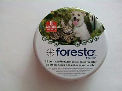Seresto/Foresto Collar against Fleas and Ticks for dogs and cats under 8 kg.