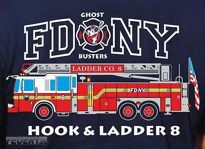 Sweatjacke navy, FDNY Ladder Truck 8 - Ghost Busters, farbig