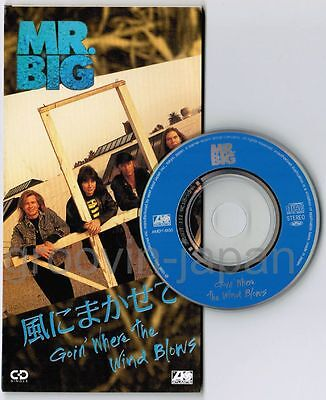 "MR.BIG Goin' Where The Wind Blows JAPAN 3"" CD AMDY-5130 Unsnapped Billy Sheehan"