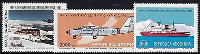 Argentina 1981 20th Anniversary of Antarctic Treaty Set MUH
