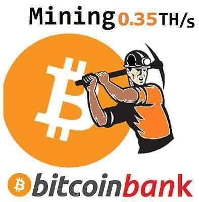 BITCOIN MINING 0.35TH/s 6-Month Contract 0.0561 BTC Digital-Coin Crypto-Currency