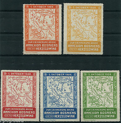 1908 The Annexation of Bosnia Herzegovina PROPAGANDA POSTER STAMPS