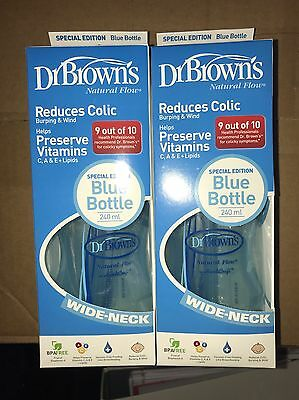 Dr Browns Natural Flow 240ml Blue Edition Bottle x2 Bottles