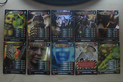 Dr Doctor Who Battles in Time Complete Set of 10 Exterminator Super Rare Cards