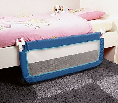 Safety 1st Portable Bed Rail Adjustable Compact Fold Toddler Baby Kids Safe Blue