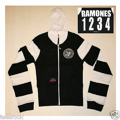 Girls Ramones Rocket to Russia Distressed Sweater Hoodie size M 13 years