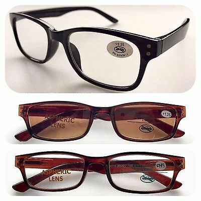 Superb Quality Wayfarer Reading Glasses & UV400 Sun Readers/Spring Hinge/Classic