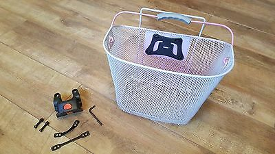 Bicycle Front Handlebar Mesh Basket with Carry Handle