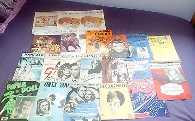 vintage music books sheets all classics large lot