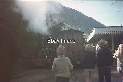 35mm Colour Slide of Talyllyn Railway Loco Dolgoch Running Round at Abergynolwyn