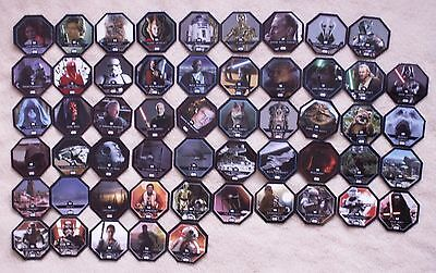 Star Wars Cartes/jetons Leclerc Cosmic Shells Collection 2015 Complete 54 Cartes