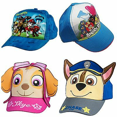 Kids Character Ball Caps Hats 8 Characters-- U Choose!  Paw Patrol Angry Birds