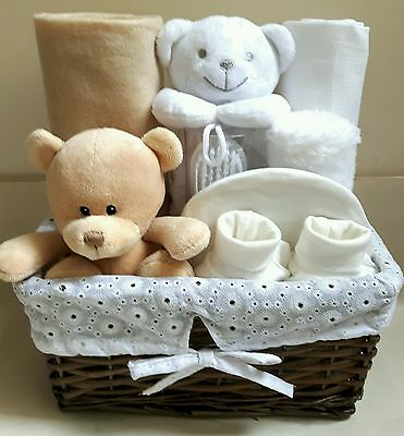 Newborn baby hamper neutral unisex baby shower present gift boy girl christening