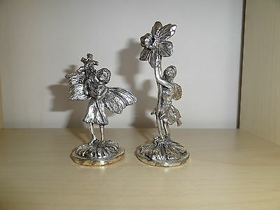 Rare Antique German Silver Plated Figurine Figure Pair Set
