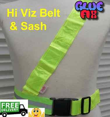 Hi Viz Belt  Ideal For Cycling Running Motorcycle  Walking Children or Adults
