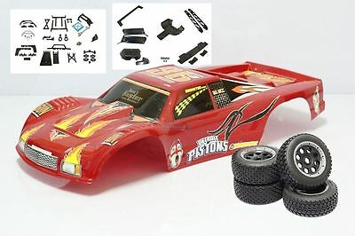 Buggy to Truck FullConversion Kit for HPI Baja 5B & KM Buggy 1/5th Scale RC Red