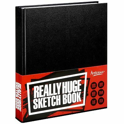 Artlicious - REALLY HUGE SKETCH BOOK - 600 Page Hard Covered Sketch Book
