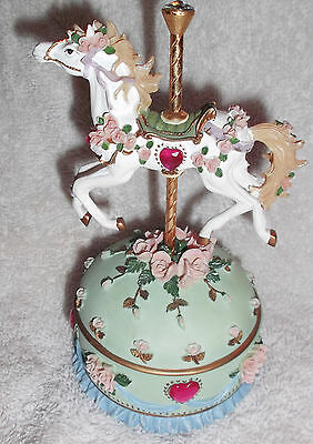 Stephanie Painted Ponies Collection Carousel Horse Music Trinket Box