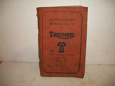 RARE ORIG 1962 Instruction MANUAL TRIUMPH Twin MOTORCYCLE BONNEVILLE Thunderbird