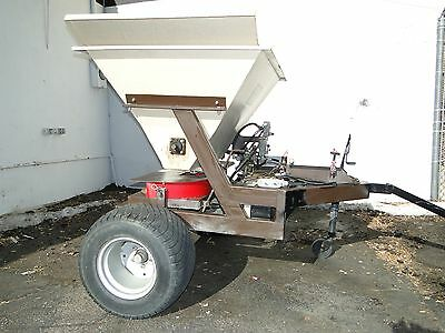 Terra Topper Terratopper Tow Behind Top Dresser Spreader Gas Powered Hydraulic