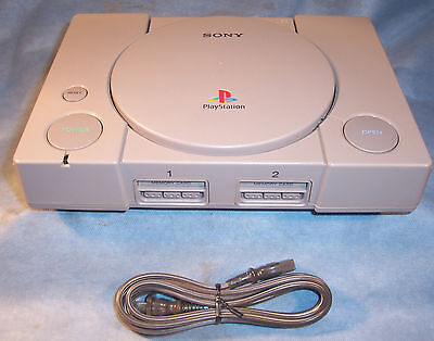 Sony Playstation 1 PS1 SCPH-5501 Video Game Stereo Console Box AC Power Cord