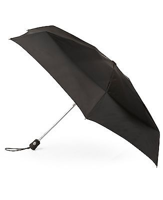 $99 Totes Traveler Blue Line Automatic Open/close Black Umbrella Rain Storm L