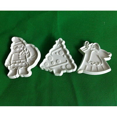 Newest Christmas Tree Fondant Cake Decora Mold Plunger Cookie Cutter Tool