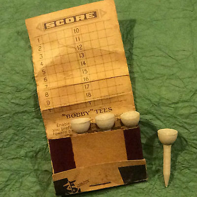 Antique Advertising  Golf Tees In Matchbook  Early  Bobby Tees And Newsweek Mag