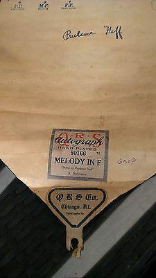 Pianola Roll Qrs Autograph Hand Played Melody In F 80166