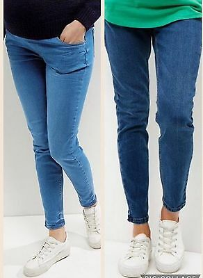 Blue New Look Maternity Skinny Jeans. Over or Under Bump.10,12,14,16,18,20.BNWT