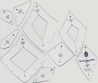GIANT DAHLIA TEMPLATE SET 9 PIECES, From Michell Marketing NEW