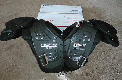 """Youth Boys DS Flex SCHUTT Black Football SHOULDER PADS Protection Large 14-15"""""""