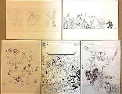Original Herge Sketch Posters A4 - 714, Tibet Cover +More BUY INDIVIDUALLY Herge