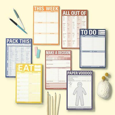 Knock Knock Organization Pads 10 Styles-- U Choose! Pack This All Out Of