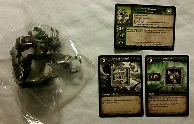 World of Warcraft Miniature Game, Goblin Shredder figure,Core-R and cards, WoW